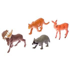 Набор животных «Обитатели природы», 4 фигурки