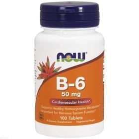 Витамин B-6 NOW 50 мг, 100 таблеток