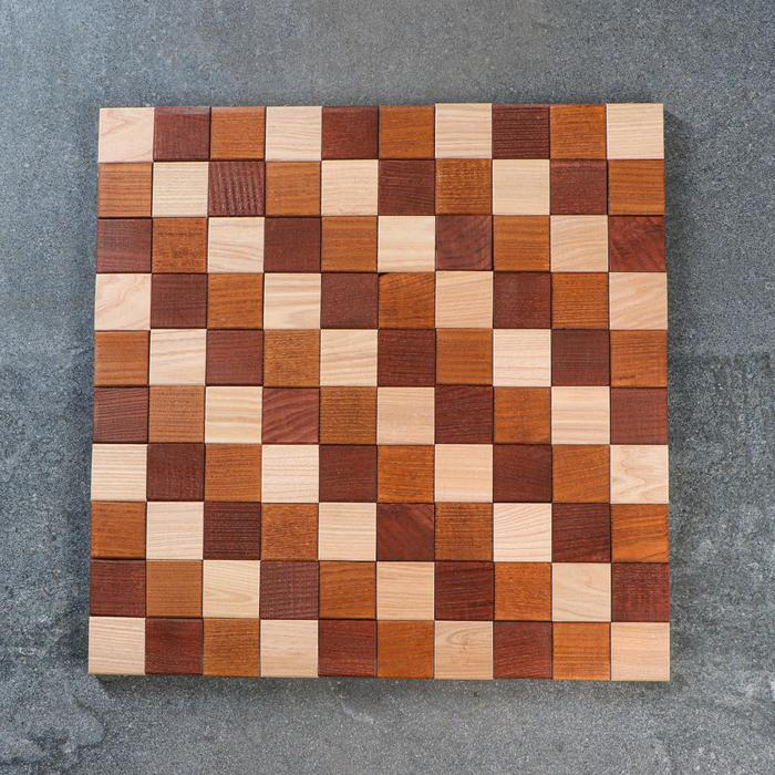 """Панель стеновая """"Мозаика"""", 3D, деревянная, 50 х 50 х 1,5 см, массив ясеня"""