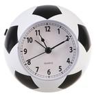 Будильник Футбольный мяч, 2 звука (Оле Оле и пиликание), черно-белый, 9,5х10,5х10,5 см