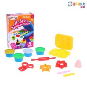 Набор для игры с пластилином «Лавка мороженого», 4 баночки пластилина