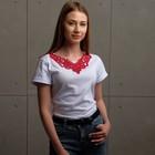 Воротник пришивной, 25 × 20 см, цвет бордовый - фото 690401