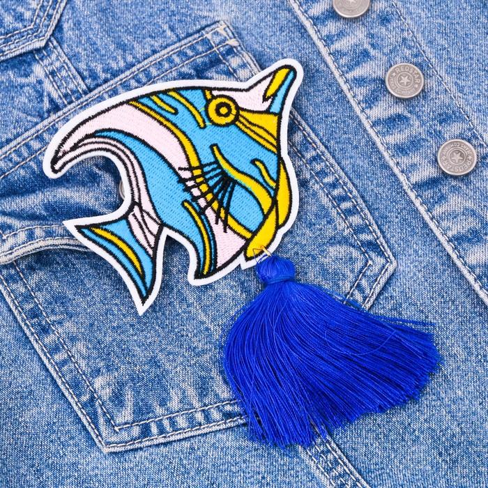 """Значок с кисточкой """"Рыбка"""" - фото 234155339"""