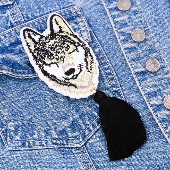 """Значок с кисточкой """"Волк"""" - фото 299681078"""