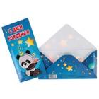 """Конверт для денег """"С Днем Рождения!"""" панда с тортиком"""