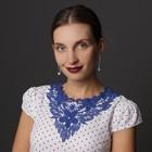 Воротник пришивной, 31 × 30 см, цвет синий - фото 690428