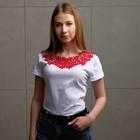 Воротник пришивной, 37,5 × 17 см, цвет бордовый - фото 690160