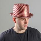 Карнавальная шляпа «Пати», р. 56, цвет красный