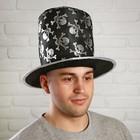 "Карнавальная шляпа ""Черепа, цвет серебро"""