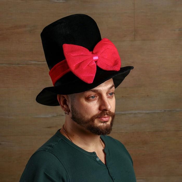 Карнавальная шляпа «Бант», р-р 56-58 см - фото 449034