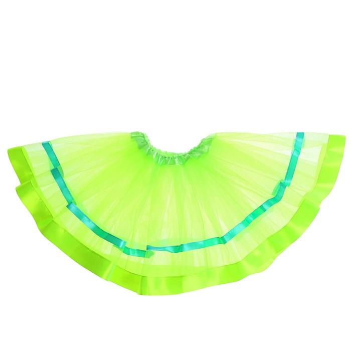 Карнавальная юбка «Красотка», трёхслойная, цвет зелёный