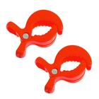 Клипса-держатель для коляски, набор 2 шт., цвет красный