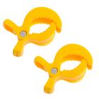 Клипса-держатель для коляски, набор 2 шт., цвет жёлтый
