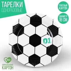 Тарелка бумажная «Футбол»
