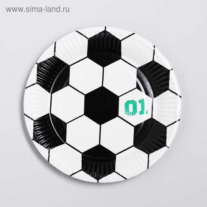 """The plate is a paper """"Football"""""""
