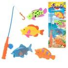 """Игровой набор """"Рыбалка"""", 4 рыбки, на блистере"""