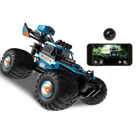 Buggy on radio control, Wi-Fi, camera, light, smartphone control, with battery, blue.