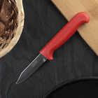 """Нож для овощей """"Элегант"""", лезвие 7,5 см, красная ручка"""