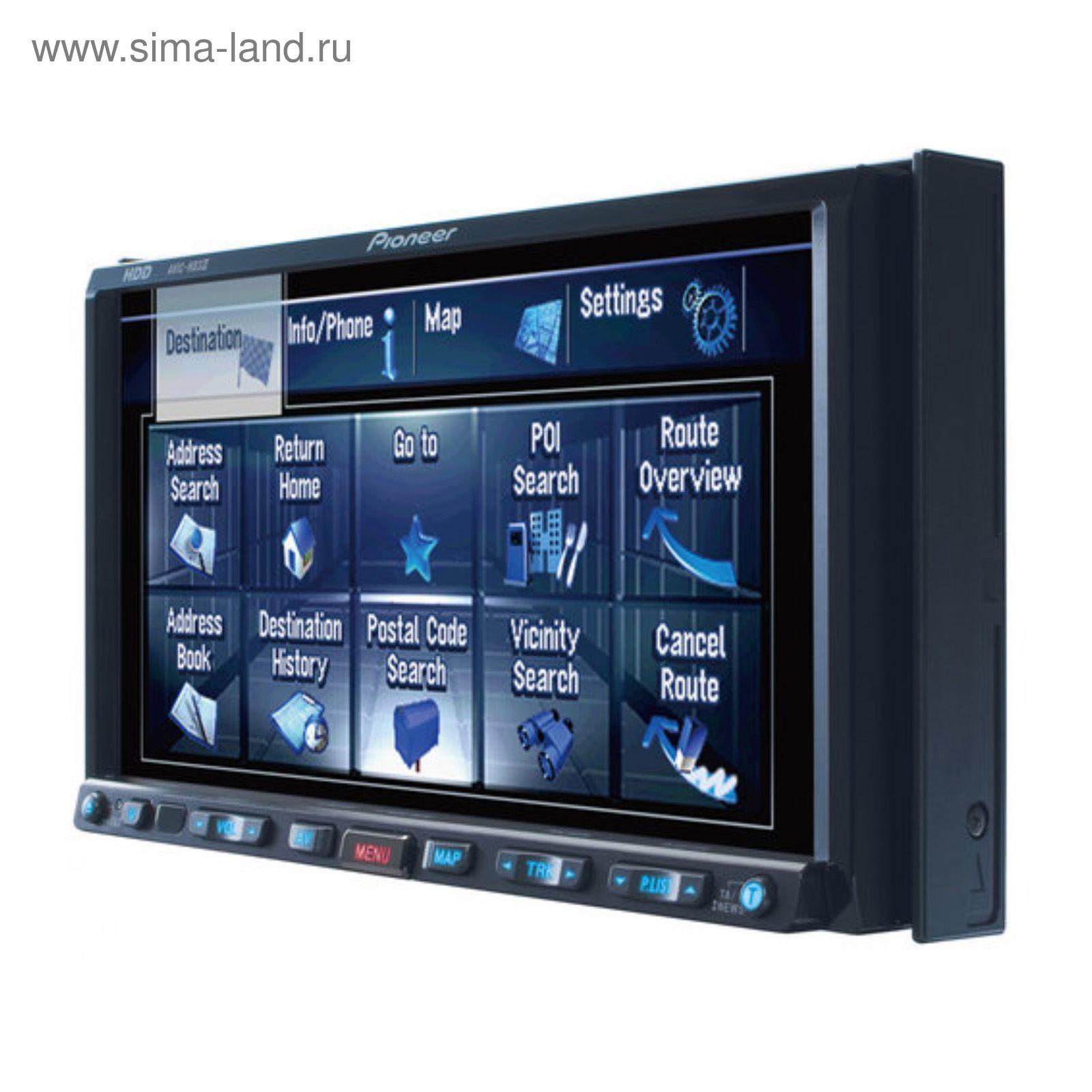 Автомагнитола с монитором и навигацией 2-DIN PIONEER AVIC