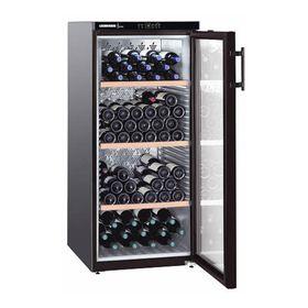 Винный шкаф Liebherr WKb 3212 Vinothek, класс А, объем 314 л, однокамерный, черный