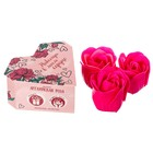 "Soap petals in a box-heart ""Forever in my heart"", 3 PCs."