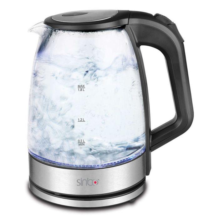 Чайник электрический Sinbo SK 7368, 2200 Вт, 1.8 л, черный
