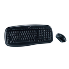 Комплект клавиатура и мышь Genius KB-8000X, беспроводной, мембранный, 1200 dpi, USB, черный