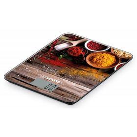 """Весы кухонные Starwind SSK3358, электронные, до 5 кг, рисунок """"Специи"""""""