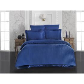 КПБ Perla евро, 240х260, 200x220, 50x70-2 шт, 70x70-2 шт, синий