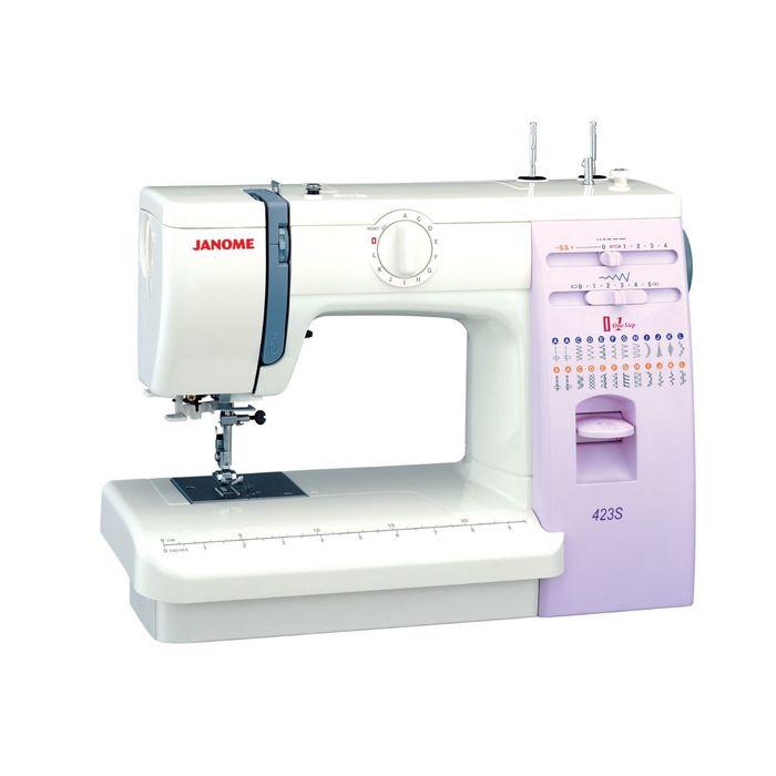 Швейная машина Janome 423S, 23 операции, регулировка давления лапки на ткань, белая