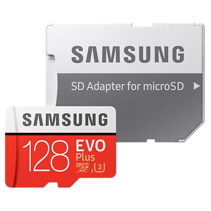 Карта памяти Samsung EVO PLUS MicroSDXC (MB-MC128GA), RU, 100Mb/s, 90mb/s