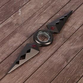 Сюрикен 'Геометрия', темно-серый, 2 прямых выпуклых лезвия, 4*16 см Ош