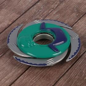 Сюрикен 'Дай пять', фиолетовый+зеленый, 4 лезвия, 11*11 см Ош