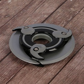 Сюрикен 'Самурай', черно-серый, 3 лезвия, 10*10 см Ош