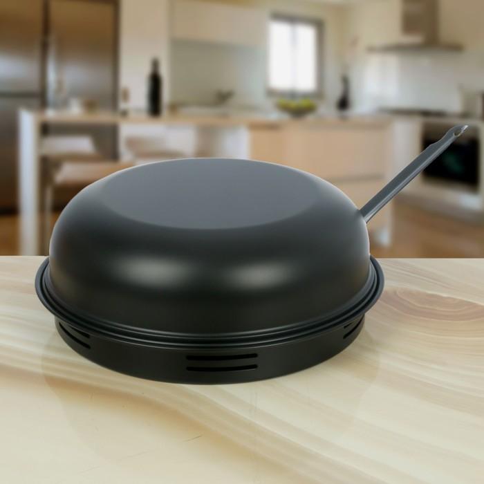 """Сковорода 33 см """"Гриль-газ"""", керамическое покрытие, съемная ручка"""