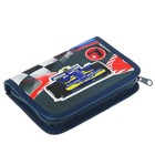 Пенал 1 секция откидные 2 планки 140 х 200 мм, ткань Belmil №1 Racing
