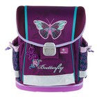 Ранец на замке Belmil Classy 36 х 32 х 19 см, Butterfly, сиреневый