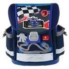 Ранец на замке Belmil Classy 36 х 32 х 19 см, No 1 Racing, синий