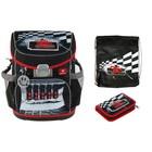 Ранец на замке Belmil Mini-Fit 36 х 32 х 19 см, с наполнением: мешок, пенал Speed Racing