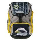 Рюкзак школьный с эргономичной спинкой Belmil 42 х 26 х 19 см, Comfy Lumi Eagle, серый