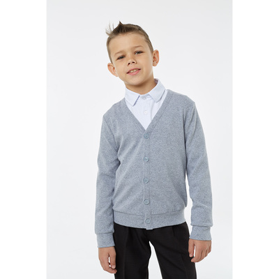 Кардиган для мальчика, рост 152 см, цвет меланж