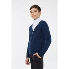 Кардиган для мальчика, рост 128 см, цвет синий 1S5-001-11811