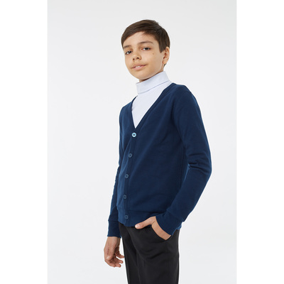 Кардиган для мальчика, рост 116 см, цвет синий