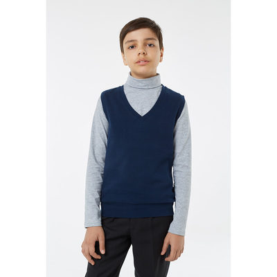 Жилет для мальчика, рост 116 см, цвет синий 1S5-002-11811
