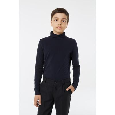 Водолазка для мальчика, рост 134 см, цвет синий