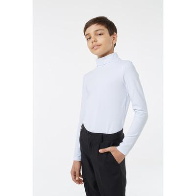 Водолазка для мальчика, рост 134 см, цвет белый