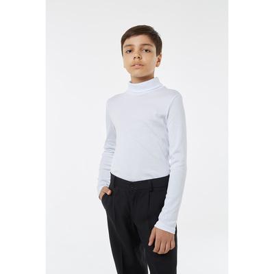 Водолазка для мальчика, рост 134 см, цвет белый 1S6-002-11811