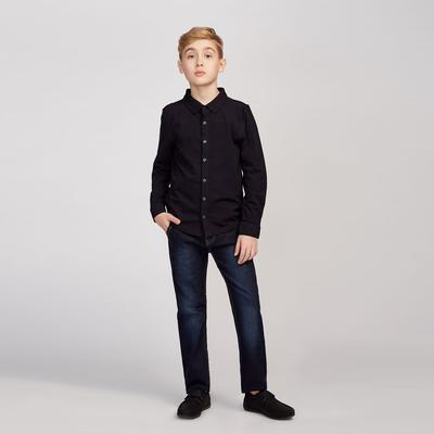 Рубашка для мальчика, рост 134 см, цвет синий