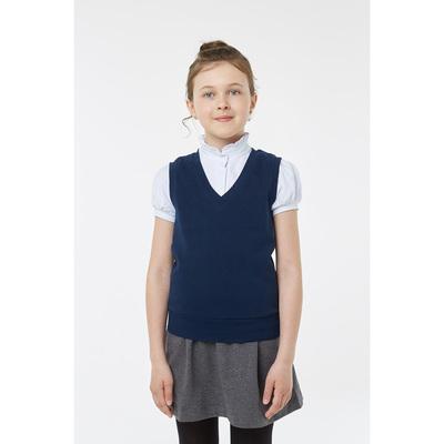 Жилет для девочки, рост 134 см, цвет синий 2S5-002-11811