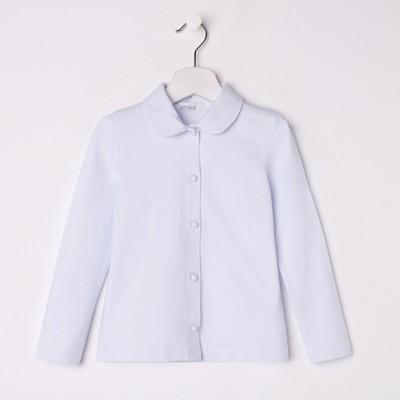 Блузка для девочки, рост 140 см, цвет белый